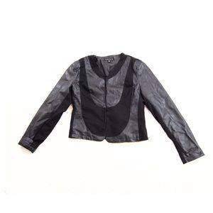 Revue Black Faux Leather Moto Jacket Small